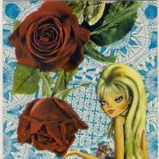 Postales: -53562 POSTAL DIBUJO NIÑA CON FLORES Y RAMO, EDICIONES BV, P-20109-4. Lote 40793230