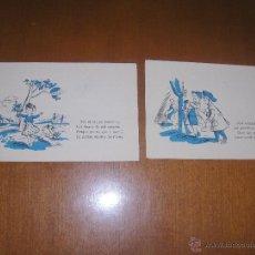 Postales: LOTE DE 2 POSTALES. Lote 40817850