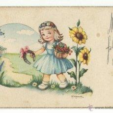 Postales: POSTAL EDITORIAL ARTIGAS / SIRENITA .- SERIE 1018.- ILUSTRA GIRONA. Lote 40824663