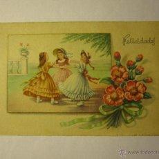 Postales: POSTAL C.Y.Z 804 FELICIDADES AÑO 1950. Lote 40879144
