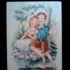 Postales: POSTAL NIÑOS MELODIAS SELECTAS DB GIRONA 1951 SERIE CAMPESINA. Lote 40946384