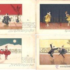 Postales: PS2966 COLECCIÓN DE 6 POSTALES NARRANDO LA HISTORIA DE PIERROT Y COLOMBINA - PRINC. S. XX. Lote 41039172