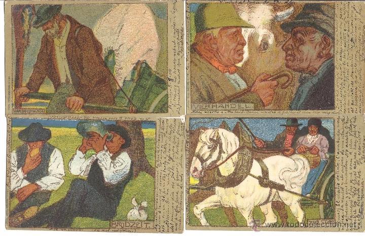 Postales: PS2969 COLECCIÓN DE 10 POSTALES ILUSTRADAS CON COSTUMBRES ALEMANAS - PRINC. S. XX - Foto 2 - 41039619