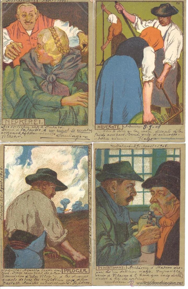 Postales: PS2969 COLECCIÓN DE 10 POSTALES ILUSTRADAS CON COSTUMBRES ALEMANAS - PRINC. S. XX - Foto 3 - 41039619