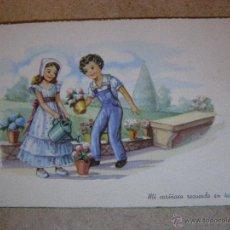 Postales: ANTIGUA POSTAL - DIBUJOS ROMÁNTICOS - SIN ESCRIBIR NI CIRCULAR - SERIE 1377 - PABLO DUMMATXEN -. Lote 41156896