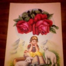 Postales: POSTAL NIÑA OVEJITAS ROSAS - ILUSTRADA - ZSOLT - 2315/E - ESCRITA, NO CIRCULADA. Lote 41371974