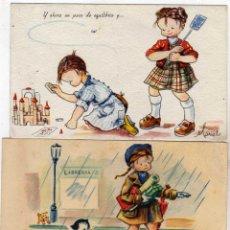 Postales: LOTE 2 POSTALES ILUSTRADAS POR MARIELO SERIE 832 Y SERIE 77 CIRCULADAS.. Lote 41452461