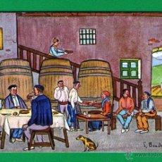 Postales: ESCENA EN TABERNA VASCA - ILUSTRACIÓN DE LUIS BOADA ROLÍN - SIN USAR Y BIEN CONSERVADA. Lote 41504193