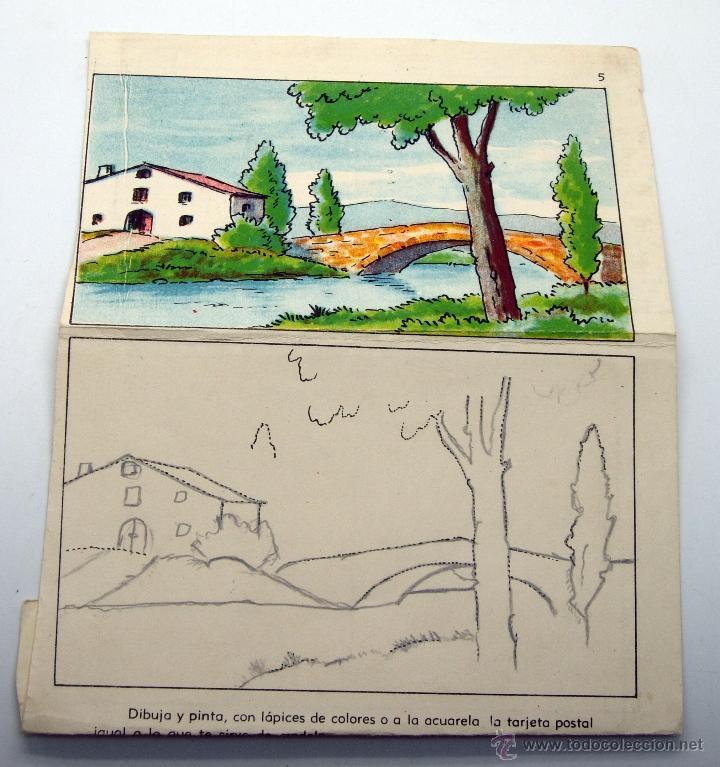 postal paisaje para recortar pintar para niños - Comprar Postales ...