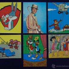 Postales: 6 POSTALES DE LA WARNER BROS Y DE WALT DISNEY: BUGS BUNNY, LOS PICAPIEDRA, MARY POPPINS... AÑO 1965. Lote 42187257