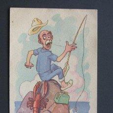 Postales: POSTAL HUMORISTICA / CARICATURA / CMB / ESCRITA EN 1943. Lote 42271866