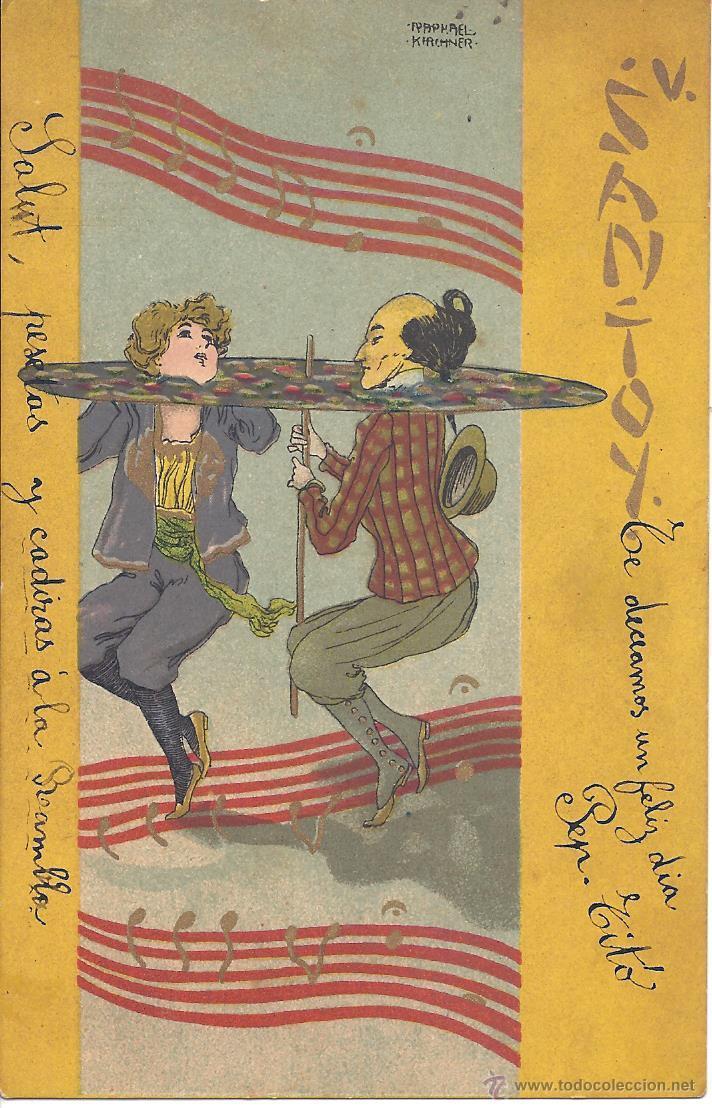 PS3923 POSTAL ILUSTRADA POR R. KIRCHNER - SAN-TOY - CIRCULADA EN 1903 (Postales - Dibujos y Caricaturas)