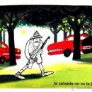 Postales: JEFATURA CENTRAL DE TRAFICO DIBUJO CHUMY CHUMEZ. Lote 42374698