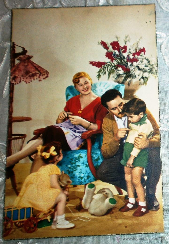ANTIGUA POSTAL - DIBUJOS - ESCENA FAMILIAR - ESCRITA (Postales - Dibujos y Caricaturas)