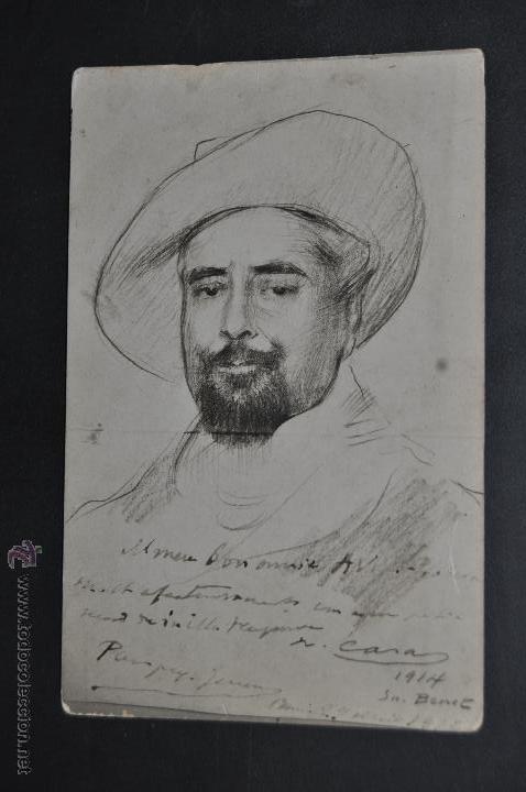 ANTIGUA POSTAL DE PRINCIPIOS DE SIGLO XX. ILUSTRADA POR RAMON CASAS. SIN CIRCULAR (Postales - Dibujos y Caricaturas)