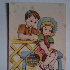 Postales: ANTIGUA POSTAL ED ARTIGAS IKON DIBUJO BOMBON 1945 . Lote 43712820