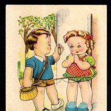 Postales: POSTAL INFANTIL. ED. CMB SERIE 91. EL AMOR ES CIEGO. BOMBÓN. CIRCULADA. Lote 43849450