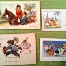 Postales: LOTE CUATRO POSTALES ANTIGUAS. Lote 43895288