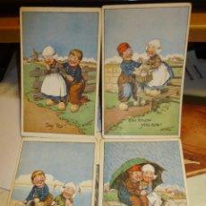 Postales: 4 SIMPATICAS POSTALES ILUSTRADAS POR G. E. SHEPHEARD, ED. OILETTE, 14 X 9 CM.. Lote 43977982