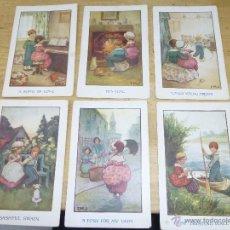 Postales: 6 BONITAS POSTALES ILUSTRADAS POR IMJ. ED. C. W. FAULKNER, SIN CIRCULAR, 14 X 9 CM.. Lote 44058582