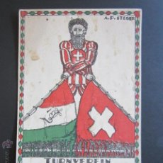Postales: POSTAL TURNVEREIN TECHNIKUM BIEL STIFTUNGSFEST. 1894. A. P. STEGER. . Lote 44368596
