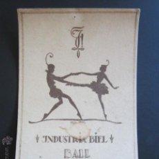 Postales: POSTAL INDUSTRIA BIEL BALL. HOTEL BELLEVUE MACOLIN. 16 DEZ. 1922. . Lote 44368648