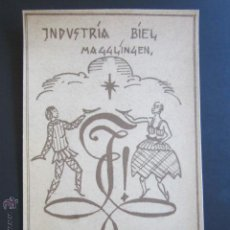 Postales: POSTAL INDUSTRIA BIEL BALL. MAGGLINGEN. 1923. . Lote 44368678