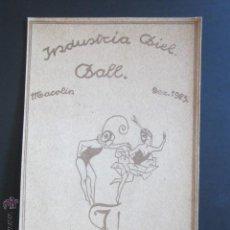 Postales: POSTAL INDUSTRIA BIEL BALL. MACOLIN. DEZ. 1923. . Lote 44368701