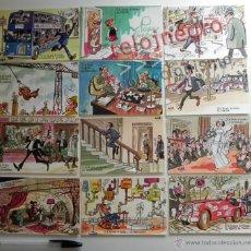 Postales: LOTE 12 POSTALES LOTERÍA NACIONAL DIBUJOS DE ANTONIO MINGOTE - HUMOR GRÁFICO POSTAL PUBLICIDAD GORDO. Lote 44433528