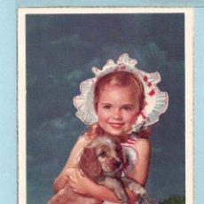 Postales: 1046 POSTAL BONITA NIÑA CON PERRO EDITOR C Y Z ESCRITA AÑO 1956 VER FOTO ADICIONAL. Lote 44880216