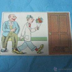 Postales: POSTAL ANTIGUA CHISTE COMICA DESPLEGABLE Nº 81 CARICATURA ENGAÑOSA. Lote 44922387