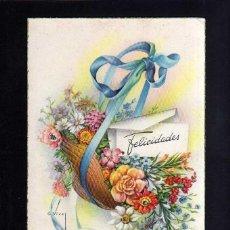 Postales: POSTAL DIBUJO RAMO DE FLORES. CYZ . SERIE 536. CIRCULADA. . Lote 45319131