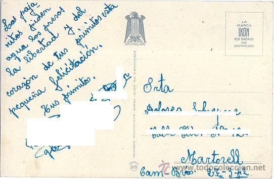 Postales: 0783S - IKON - EDICIONES DE ARTE - EDITORIAL ARTIGAS- SERIE 3558 -DATA 1942 - ILUSTRA BOMBÓN - Foto 2 - 45560658