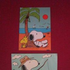 Postales: PAREJA DE POSTALES DEL PERRO SNOOPY. AÑOS 70. . Lote 45592748