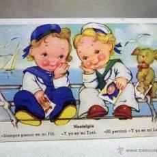 Postales: ANTIGUA POSTAL CARICATURESCA, NIÑOS, EDICIONES COLON, BENISI, SERIE 100/1. Lote 45927563