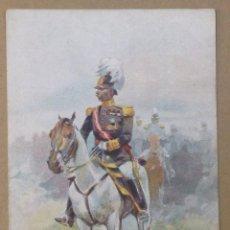 Postales: ILUSTRACIÓN DE CUSACHS. UNIFORMES MILITARES. (L.B. LUIS BARTRINA) . Lote 45963763
