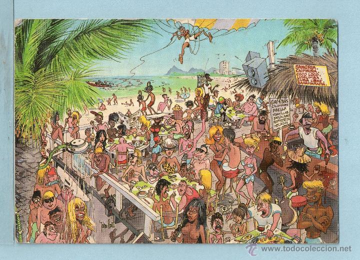 1726 postal de sol y mar circulada  Comprar Postales antiguas de