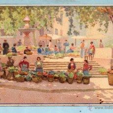 Postales: PRECIOSA POSTAL DE MERCADO DE MALLORCA ESCRITA EL AÑO 1922. Lote 46692912