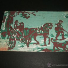 Postales: CAZADORES POSTAL DIBUJADA A MANO ANTERIOR A 1906 REVERSO SIN DIVIDIR. Lote 47273978