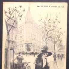 Postales: ILUSTRACIÓN A. UTRILLO. AVENIDA DE MAYO, BUENOS AIRES. ANEXO GATH & CHAVES (S. A.). PEUSER. . Lote 47322025
