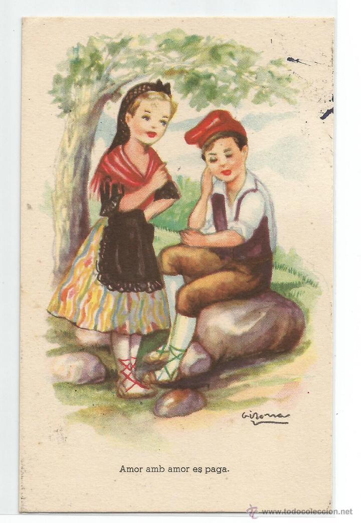 POSTAL EDITORIAL ARTIGAS .- ADAGIS POPULARS .- ILUSTRA GIRONA (Postales - Dibujos y Caricaturas)