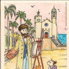 Postales: ILUSTRADOR: PILARÍN BAYÉS, SITGES, RUSIÑOL PINTANT - MARTÍN CASANOVAS Nº 2 - SIN CIRCULAR. Lote 134126835