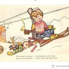 Postales: POSTAL - EDICIONES DEL ARTE - EDITORIAL ARTIGAS - DEPORTES DE INVIERNO - COLECCIÓN A - SERIE 137. Lote 47810008