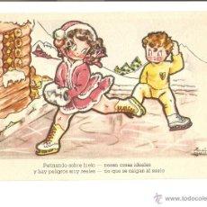 Postales: POSTAL - EDICIONES DEL ARTE - EDITORIAL ARTIGAS - DEPORTES DE INVIERNO - COLECCIÓN A - SERIE 137. Lote 47810933
