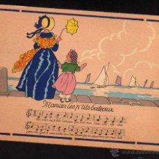 Postales: POSTAL SERIE RONDES ENFANTINES - MAMAN CES P'TITS BATEAUX - BARRES - DAYEZ - 1385R ILLUSTR. JACK. Lote 48465725