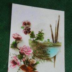 Postales: ANTIGUA POSTAL FAB.FRANCESA - PINCELES Y FLORES - LEO 266. Lote 48656782