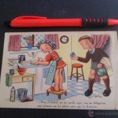 Postales: POSTAL EDITORIAL ARTIGAS / IKON - COLECCION C - ILUSTRA BOMBON - AL FUTBOL - ESCRITA 1944. Lote 48683413