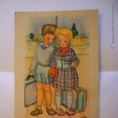 Postales: POSTAL M. MONFORT SERIE 5. ILUSTRADA ADIE. CIRCULADA 1950. Lote 48698371