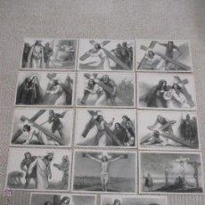 Postales: SERIE DE 14 POSTALES VIA CRUCIS DE A. UTRILLO, EDITORIAL BALMES. Lote 48946960