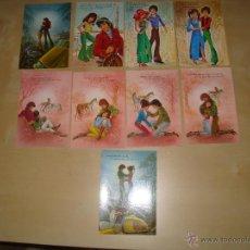 Postales: LOTE DE 9 POSTALES DIBUJOS ROMANTICOS. Lote 49115507